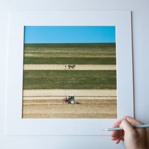 """""""God speed the plow"""", 30x30cm (framed 40x40cm), limited edition of 11 (+2AP)"""