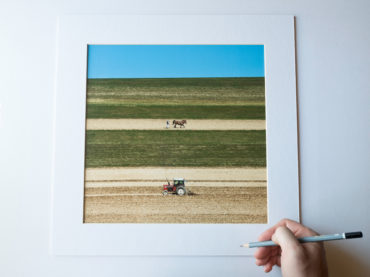 """God speed the plow"", 30x30cm (framed 40x40cm), limited edition of 11 (+2AP)"