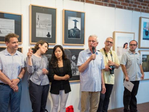 From left: Simon Crofts, Sylwia Kowalczyk, Ji Hyun Kwon, Krzysztof Jurecki, Tomasz Warzyński, Manfred Bator. At the background images of Tadeusz Prociak & Michaela Spurna. Image by K. Ligęza
