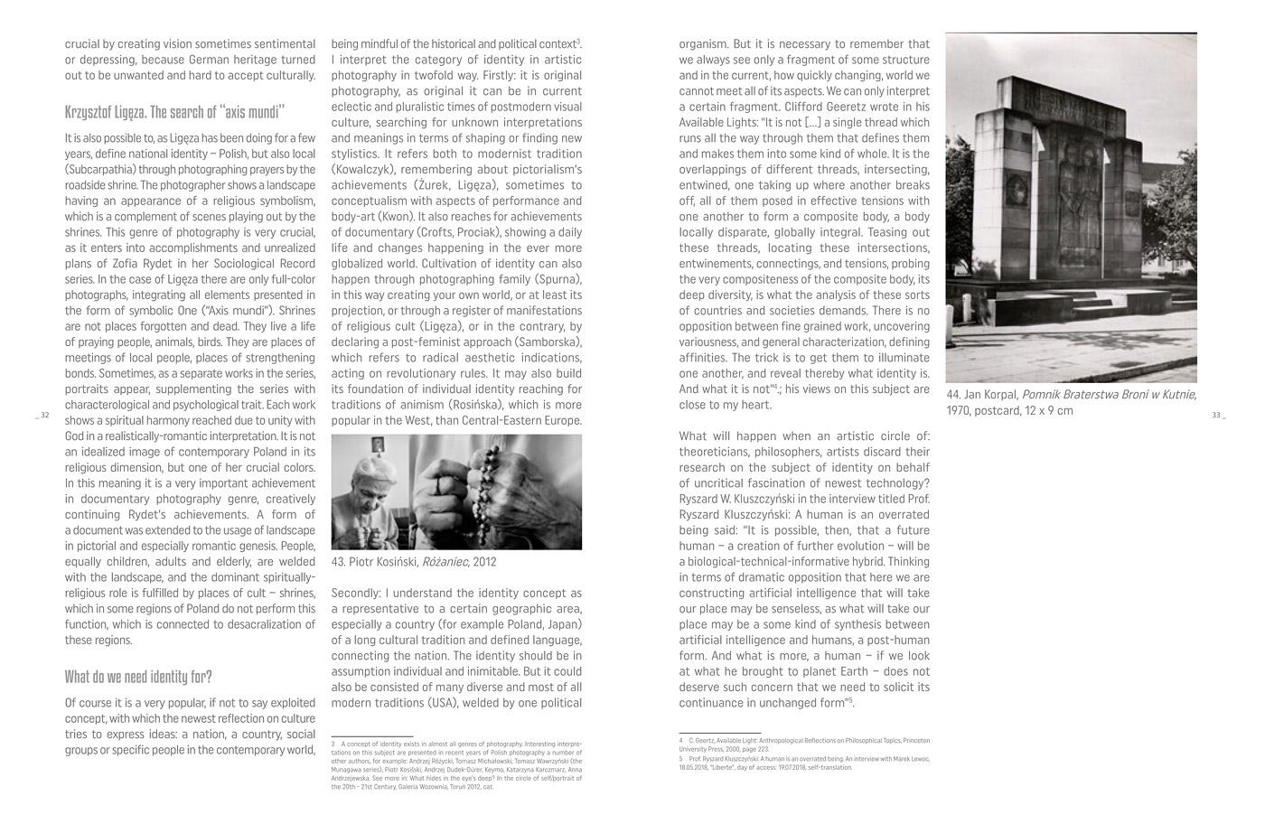 Exhibition catalogue with artists images & essay of dr Krzysztof Jurecki, graphic design by  A. Szuba