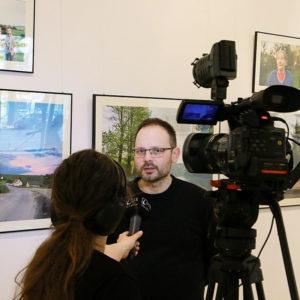 TV interview, image by Andrej Trebatický 1